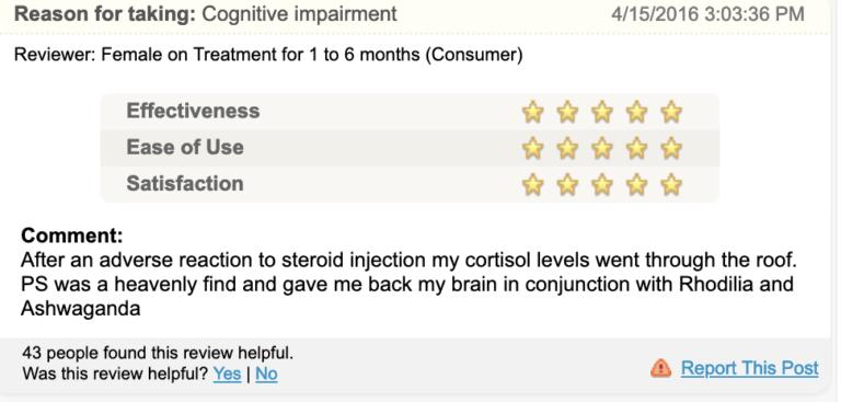 phosphatidylserine reviews
