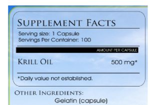 krill oil dosage