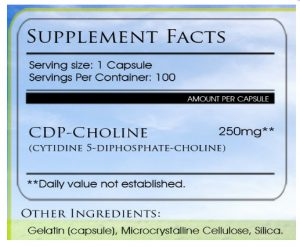 cdp choline dosage