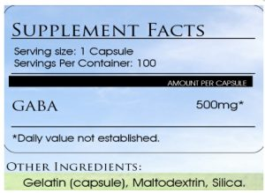 gaba supplement dosage